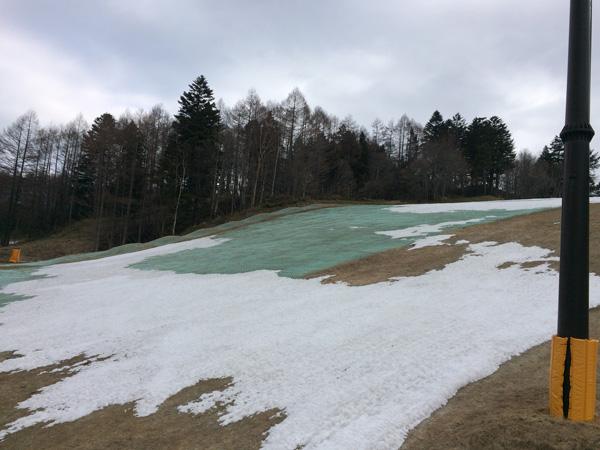 丸沼高原、雪が減ったイエローコース