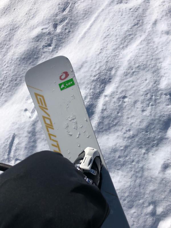 2021シーズン初滑り、ノルン水上スキー場のリフトから
