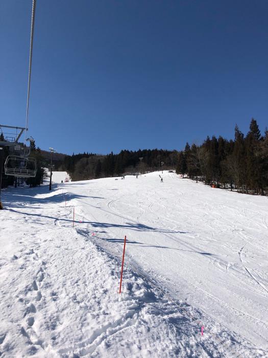 2021シーズン初滑り、ノルン水上スキー場、Eコース