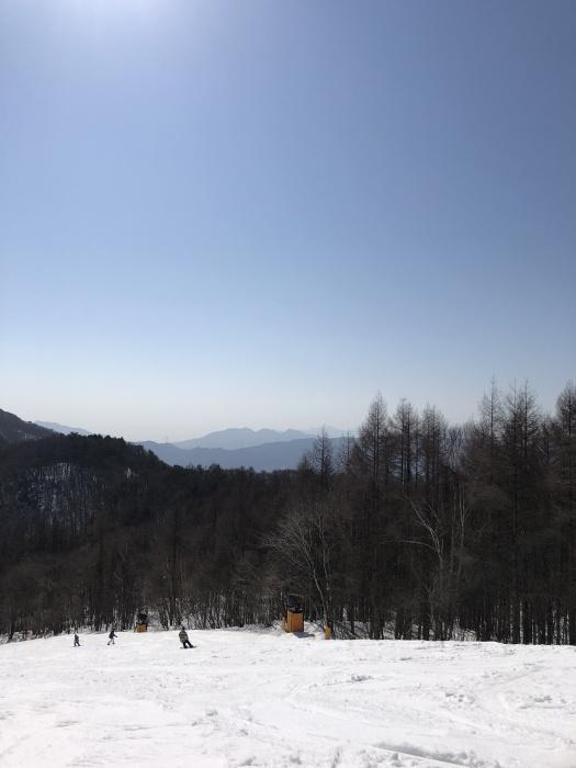 ノン水上スキー場、頂上からの写真。